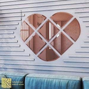 آینه آسان نصب طرح قلب