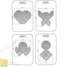 Heart design provided mirror