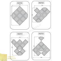 Jewel design provided mirror
